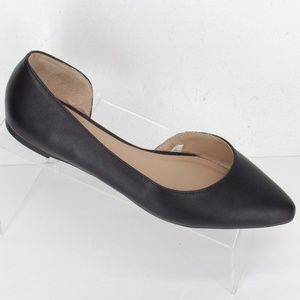 A New Day Pointed Toe Flats 8 Black EUC 212